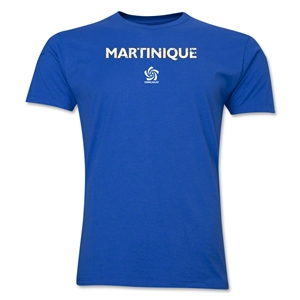Martinique CONCACAF Distressed Men's Fashion T-Shirt (Royal)