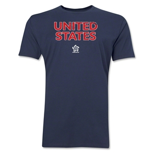 USA CONCACAF Distressed Men's Fashion T-Shirt (Navy)