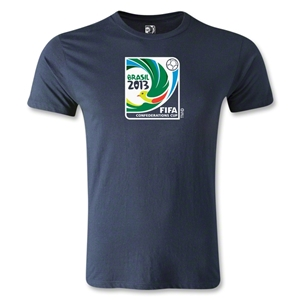 FIFA Confederations Cup 2013 Men's Fashion T-Shirt (Navy)