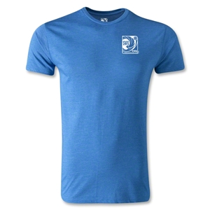 FIFA Confederations Cup 2013 Men's Fashion Small Emblem T-Shirt (Heather Blue)