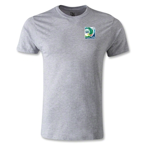 FIFA Confederations Cup 2013 Men's Fashion Small Emblem T-Shirt (Gray)