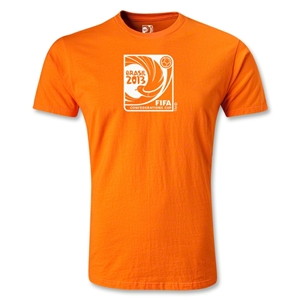 FIFA Confederations Cup 2013 Men's Fashion Emblem T-Shirt (Orange)
