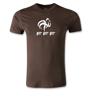France FFF Men's Fashion T-Shirt (Brown)