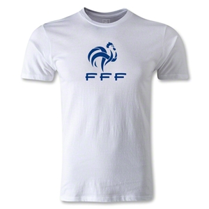 France FFF Men's Fashion T-Shirt (White)