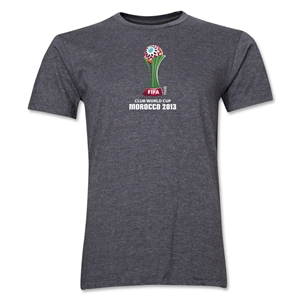 FIFA Club World Cup Morocco 2013 Men's Official Emblem T-Shirt (Dark Grey)