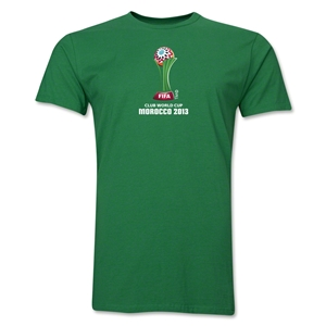 FIFA Club World Cup Morocco 2013 Men's Official Emblem T-Shirt (Green)