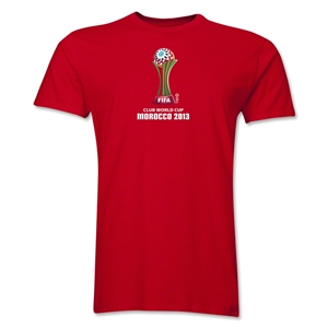 FIFA Club World Cup Morocco 2013 Men's Official Emblem T-Shirt (Red)