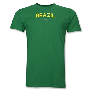 Brazil 2013 FIFA U-17 World Cup UAE Men's Premium T-Shirt (Green)