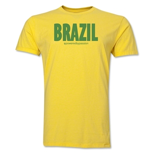 Brazil Powered by Passion T-Shirt (Yellow)