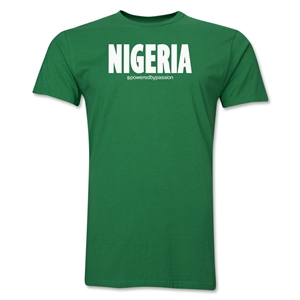 Nigeria Powered by Passion T-Shirt (Green)