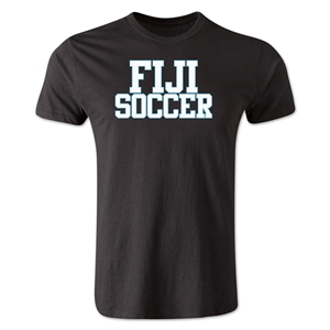 Fiji Soccer Supporter Men's Fashion T-Shirt (Black)