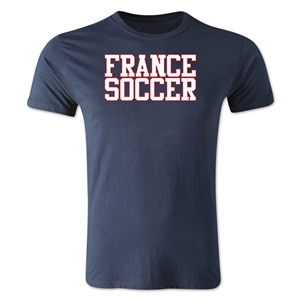 France Soccer Supporter Men's Fashion T-Shirt (Navy)