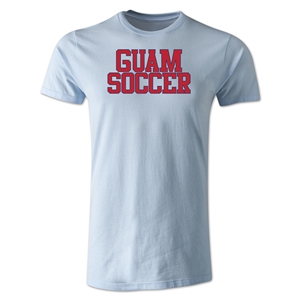 Guam Soccer Supporter Men's Fashion T-Shirt (Sky Blue)