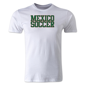 Mexico Soccer Supporter Men's Fashion T-Shirt (White)