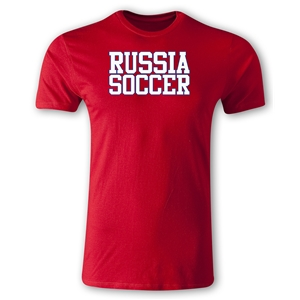 Russia Soccer Supporter Men's Fashion T-Shirt (Red)
