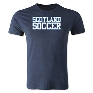 Scotland Soccer Supporter Men's Fashion T-Shirt (Navy)
