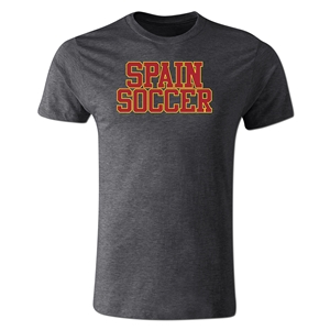 Spain Soccer Supporter Men's Fashion T-Shirt (Dark Gray)
