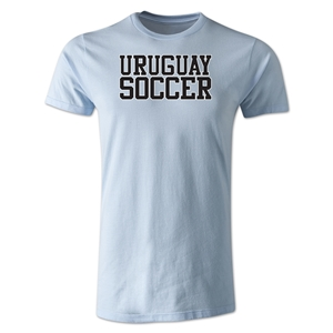 Uruguay Soccer Supporter Men's Fashion T-Shirt (Sky Blue)