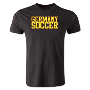 Germany Soccer Supporter Men's Fashion T-Shirt (Black)