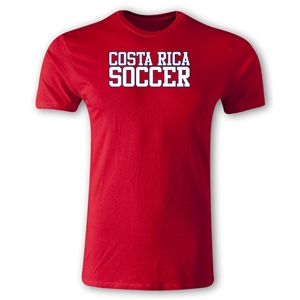 Costa Rica Soccer Supporter Men's Fashion T-Shirt (Red)
