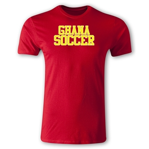Ghana Soccer Supporter Men's Fashion T-Shirt (Red)