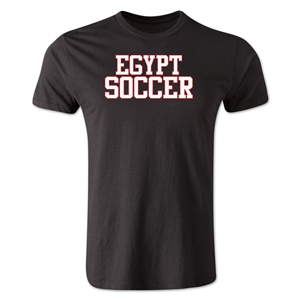 Egypt Soccer Supporter Men's Fashion T-Shirt (Black)