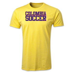 Colombia Soccer Supporter Men's T-Shirt (Yellow)