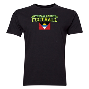 Antigua & Barbuda Football T-Shirt (Black)