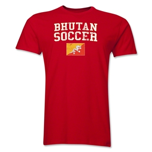 Bhutan Soccer T-Shirt (Red)