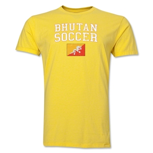Bhutan Soccer T-Shirt (Yellow)