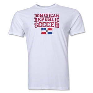Dominican Republic Soccer T-Shirt (White)