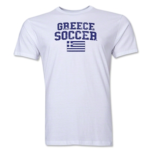 Greece Soccer T-Shirt (White)