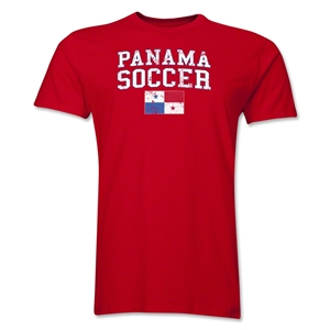 Panama Soccer T-Shirt (Red)