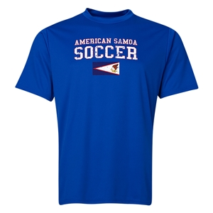 American Samoa Soccer Training T-Shirt (Royal)