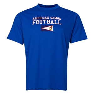 American Samoa Football Training T-Shirt (Royal)
