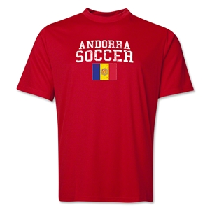 Andorra Soccer Training T-Shirt (Red)