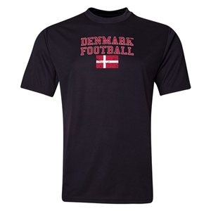 Denmark Football Training T-Shirt (Black)