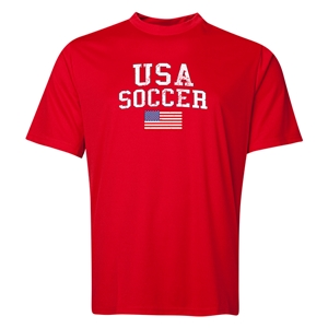 USA Soccer Training T-Shirt (Red)