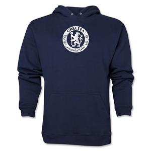Chelsea Distressed Emblem Hoody (Navy)