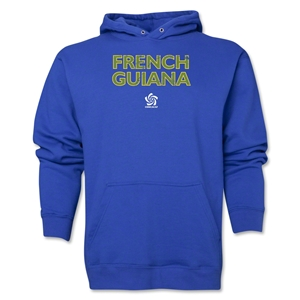 French Guiana CONCACAF Distressed Hoody (Royal)