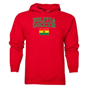 Bolivia Soccer Hoody (Red)