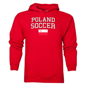 Poland Soccer Hoody (Red)