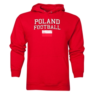 Poland Football Hoody (Red)