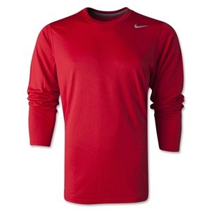 Nike Legend Long Sleeve Poly Top (Red)