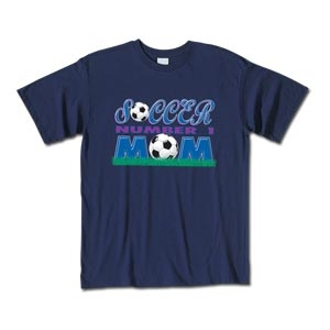 Soccer #1 Mom T-Shirt (Navy)