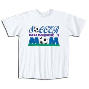 Soccer #1 Mom T-Shirt (White)