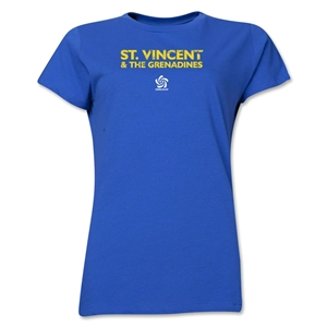 St. Vincent & the Grenadines CONCACAF Distressed Women's T-Shirt (Royal)