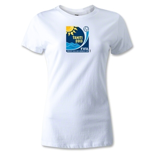 FIFA Beach World Cup 2013 Women's Emblem T-Shirt (White)