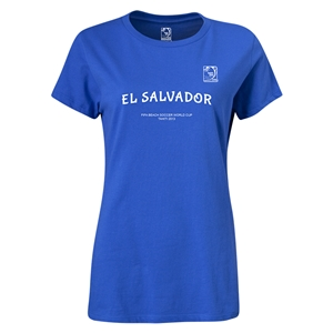 FIFA Beach World Cup 2013 Women's El Salvador T-Shirt (Royal)