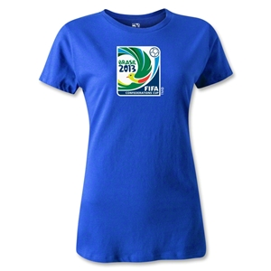 FIFA Confederations Cup 2013 Women's Emblem T-Shirt (Royal)